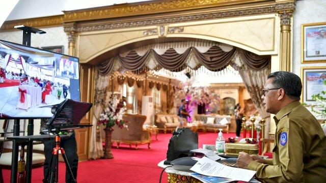 """Lewat Virtual, Gubernur Sulsel """"Hadiahkan"""" Rp128 Miliar untuk Toraja Utara"""