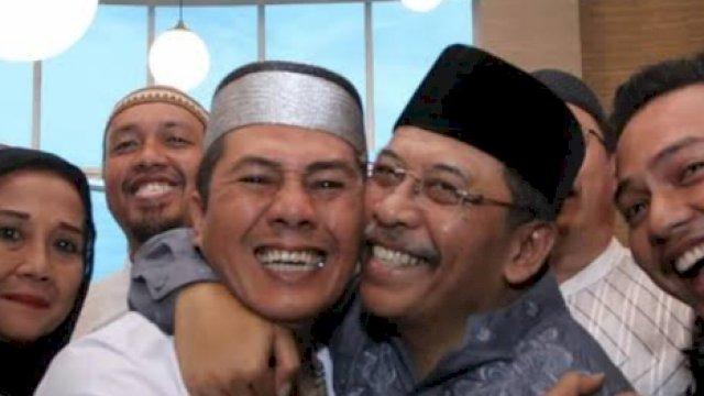 Mantan Wali Kota Makassar, Ilham Arief Sirajuddin bersama Mantan Wali Kota Makassar, Syamsu Rizal. (int)