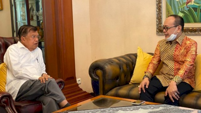 Anggota DPR RI, Supriansa temui Mantan Wapres, Jusuf Kalla, Jl Haji Bau Makassar, Jumat (24/7/2020). (ist)
