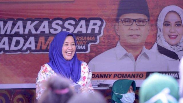 Bakal Calon Wakil Wali Kota Makassar, Fatmawati Rusdi silaturahmi bersama warga Kecamatan Manggala, Senin (3/8/2020). (Ist)