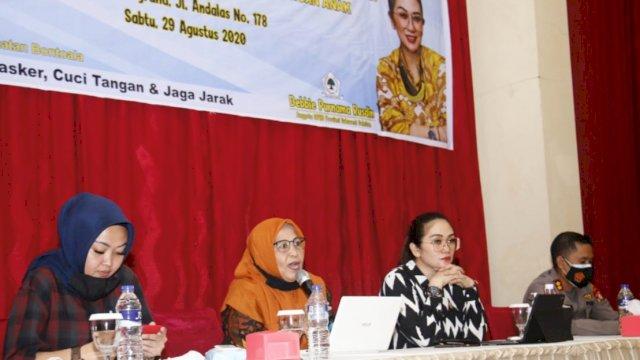 Anggota DPRD Sulsel Fraksi Golkar, Debbie Rusdin Sosialisasikan Perda Sistem Perlindungan Anak, Sabtu (29/8/2020)