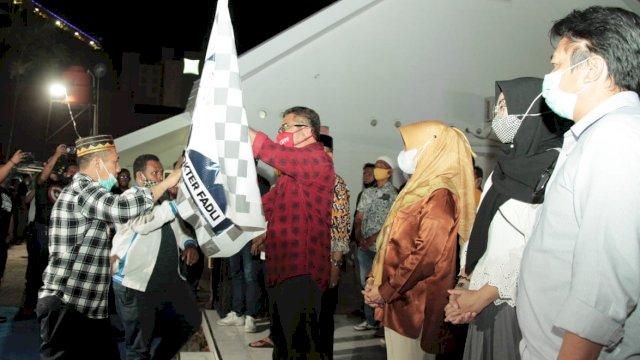 Bakal calon Wali Kota, Syamsu Rizal kukuhkan Tim Pemenangan Dilan di Pilwalkot Makassar 2020, Senin (14/9/2020) malam.