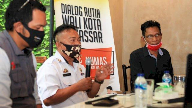 Kepala BKPSDMD Makassar Basri Rahman saat coffee morning dengan Humas Pemkot Makassar, bertempat di Shox Coffee, Rabu (2/09/2020).
