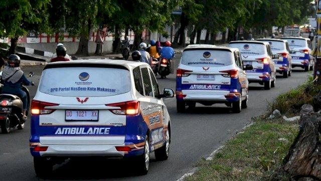 20 Armada Ambulans Gratis Partai NasDem tiba di Makasssar
