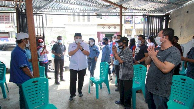 Pasangan calon Wali Kota dan Wakil Wali Kota Makassar, Munafri Arifuddin-Rahman Bando (Appi-Rahman) temui warga Maccini Raya, Selasa (27/10/2020)