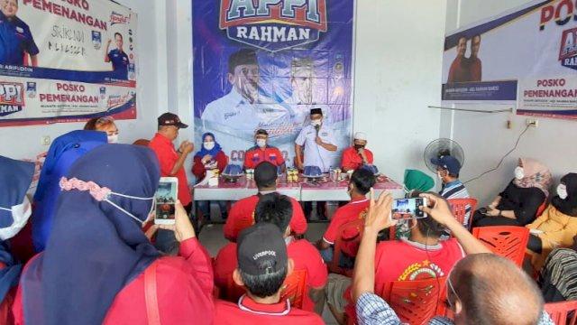 Calon Wakil Wali Kota Makassar, Rahman Bando resmikan posko relawan Srikandi Makassar