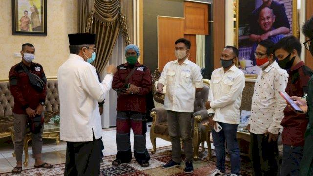 Wali Kota Parepare, Taufan Pawe menerima kunjungan pengurus SMSI Kota Parepare.