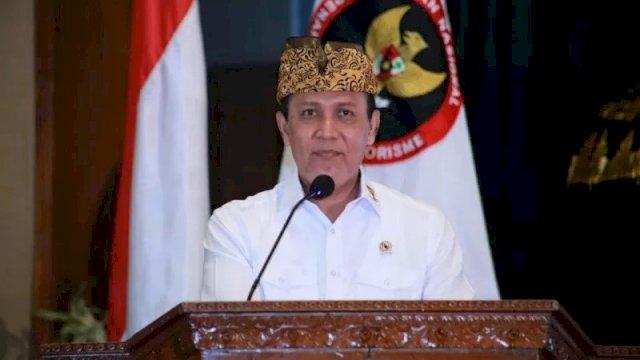 Kepala BNPT, Komisaris Jenderal Polisi Boy Rafli Amar, dalam acara Rapat Koordinasi Nasional Forum Koordinaasi Pencegahan Terorisme, di Nusa Dua, Bali, Rabu (16/12/2020). ANTARA/Dokumentasi BNPT
