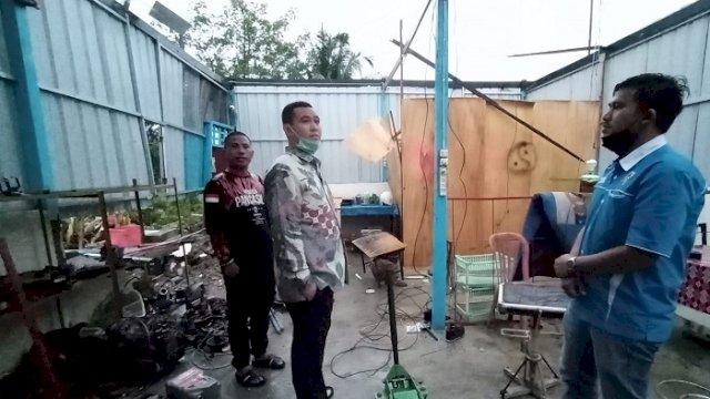 Bupati Pangkep Kunjungi Korban Puting Beliung Tanpa Didampingi Pejabat