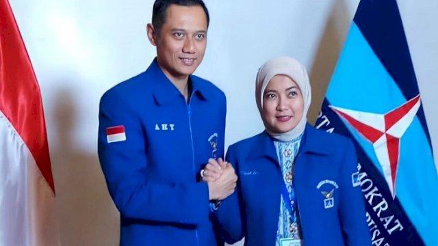 Ketua Umum Partai Demokrat Agus Harimurti Yudhoyono dan Anggota DPR RI dari Demokrat, Aliyah Mustika Ilham.