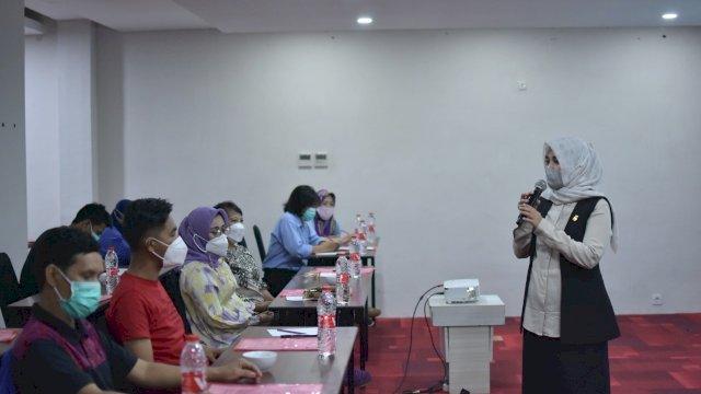 Wakil Ketua DPRD Makassar, Andi Suhada Sappaile sosialisasikan Perda Kawasan Tanpa Rokok (KTR), di Hotel Fox Lite, Jl Hasanuddin, Jumat (12/3/2021).