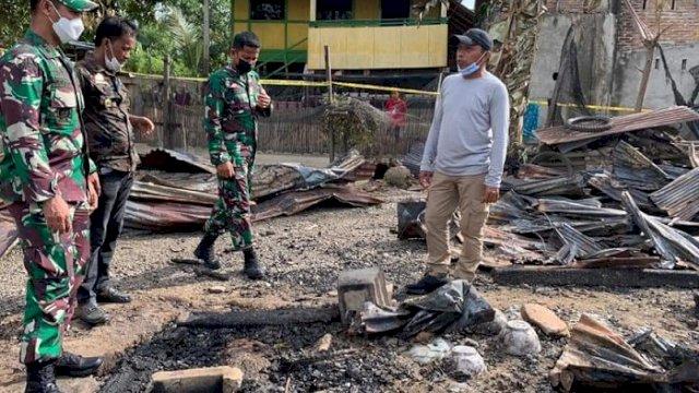 Pimpinan DPRD Sulsel Kunjungi dan Salurkan Bantuan untuk Korban Kebakaran di Sidrap