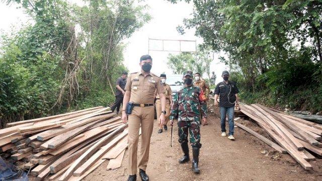Bupati Gowa Sambut Baik Pembangunan Jembatan di Lokasi TMMD