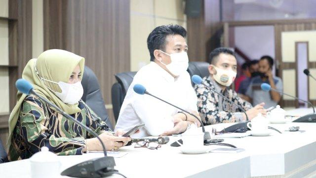 Ketua Komisi B DPRD Makassar, William mengadakan RDP membahas dana hibah pusat untuk Pariwisata, Kamis (7/1/2021).