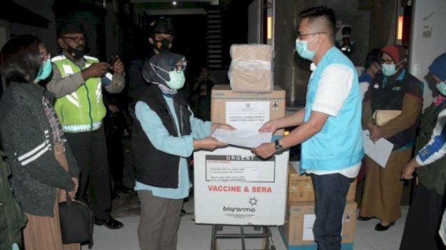4.300 Dosis Vaksin COVID-19 buatan Sinovac tiba di Luwu Utara, Selasa (16/3/2021).