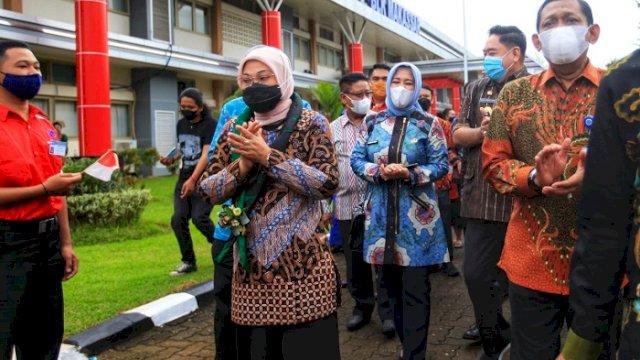 Wawali Makassar Dampingi Menaker Resmikan Aula BLK Makassar