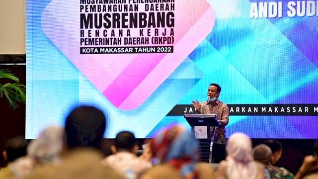 Buka Musrenbang RKPD Makassar, Plt Gubernur: Kita Harus Kuat, Bersatu dan Bersinergi