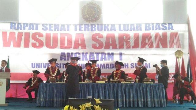 497 Mahasiswa Universitas Muhammadiyah Sinjai Diwisuda