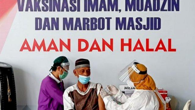 Vaksinasi untuk para Imam Masjid, Muadzin, dan Marbot Masjid. (gambar ilustrasi/int)