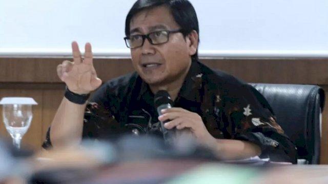 Wakil Bupati Luwu Utara, Suaib Mansur saat memimpin rapat Pembahasan Tindak Lanjut Pelaporan Capaian Aksi Pencegahan Korupsi Pemerintah Daerah di Ruang Command Center.