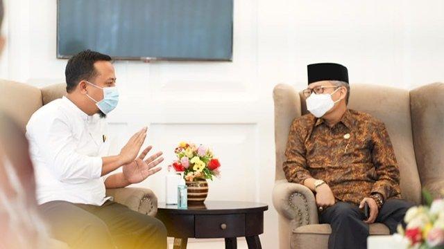 Plt Gubernur Sulsel Andi Sudirman Sulaiman dan Walikota Parepare, Taufan Pawe.