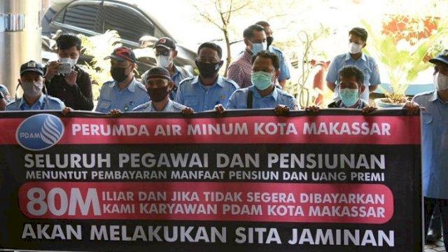 Karyawan PDAM Kota Makassar Datangi AJB Bumi Putera, Ini Tuntutannya