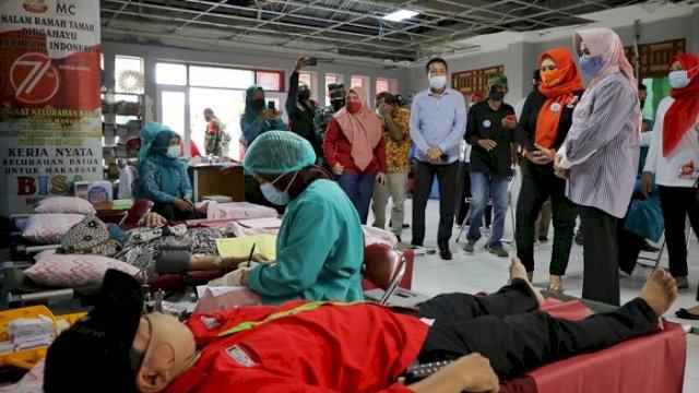 Dukung Makassar Recover, Lois Community dan TP PKK Gelar Donor Darah