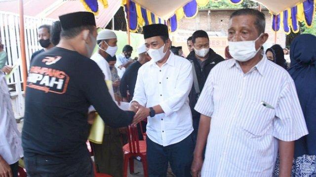 Anggota DPRD Kota Makassar, Kasrudi melaksanakan reses di Jalan Pampang, Kelurahan Pampang, Kecamatan Panakukang, Selasa (20/4/2021).