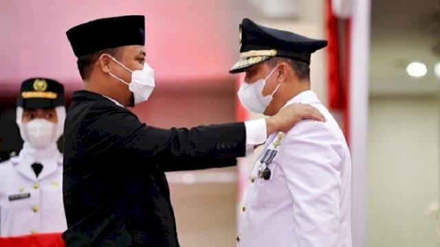 Plt Gubernur Lantik Bupati Lutim, Berpesan Bandara Sorowako Bisa Dikelola Pemerintah