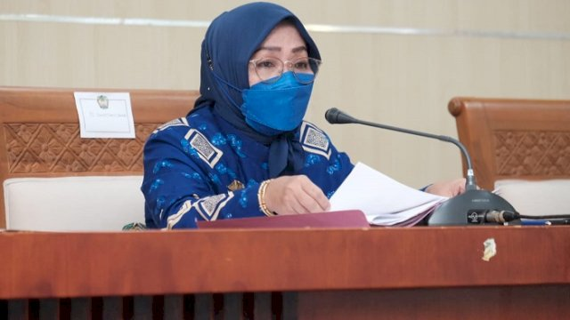 Penjabat Sekretaris Kabupaten Gowa Hj Kamsina.