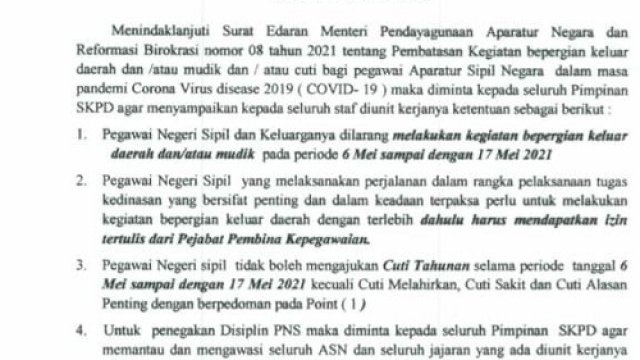 PNS di Gowa dan Keluarganya Dilarang Mudik, Kr Kio: Cegah Penularan Covid-19