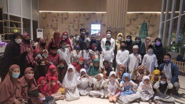 Wakil Ketua DPRD Makassar Andi Nurhaldin Buka Puasa Bersama Puluhan Pemulung di Hotel