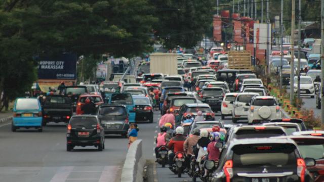 ilustrasi kemacetan di Kota Makassar (int)