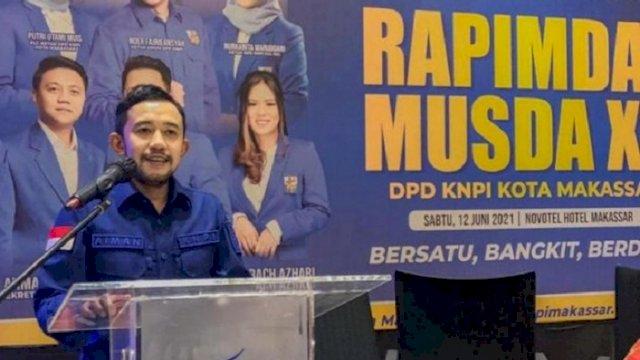 Ayman Adnan terpilih secara aklamasi sebagai Ketua DPD KNPI Kota Makassar.
