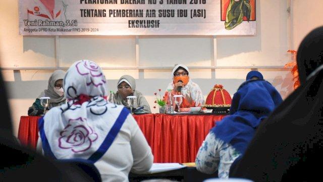 Anggota DPRD Makassar, Yeni Rahman sosialisasikan Perda Pemberian ASI Ekslusif, di Hotel Red Cendrawasih, Minggu (27/6/2021).