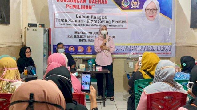 Ketua Komisi B DPRD Sulsel, Andi Rachmatika Dewi melaksanakan Kunjungan Daerah Pemilihan (Kundapil), Minggu (20/6/2021).