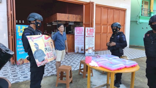 Brimob Rutin Patroli Yustisi, Sosialisasi Protokol Kesehatan