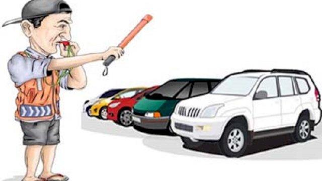 ilustrasi juru parkir (int)
