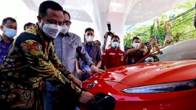 Pertama di Indonesia Timur, Makassar Kini Miliki Stasiun Pengisian Kendaraan Listrik Umum
