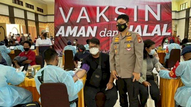 Yuk Ikutan, Polda Sulsel Menggelar Vaksinasi Massal Covid-19