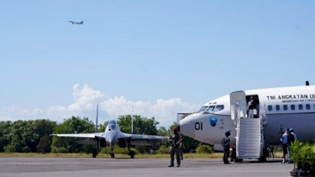 Simulasi Force Down Pesawat Asing, Mahfud MD Ingatkan Pentingnya Koordinasi