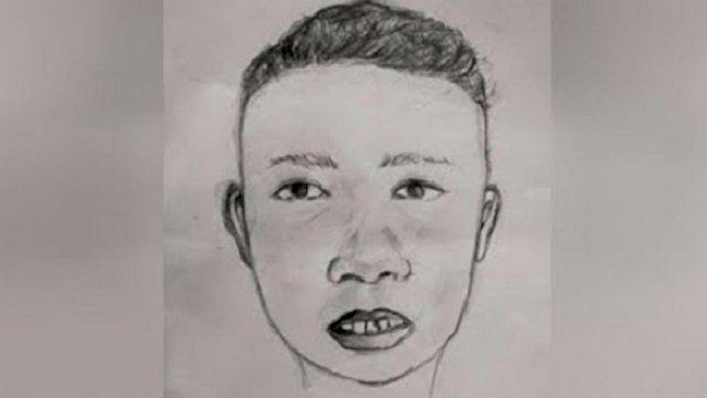 Sketsa wajah korban pembunuhan di Maros. (int)