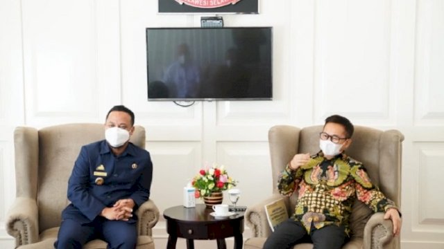 Staf Khusus Wapres RI Ma'ruf Amin, Sukriansyah S Latief, dan Plt Gubernur Sulawesi Selatan (Sulsel), Andi Sudirman Sulaiman.
