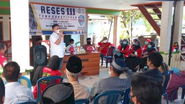 Anggota DPR Makassar, Ari Ashari Ilham mengadakan reses ketiga masa sidang ketiga 2020/2021, Rabu (15/7/2021).