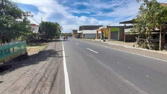 Ruas Jalan Soppeng-Sidrap Sepanjang 7 Km Sudah Mulus, Masih Tersisa 1,6 Km yang Rusak