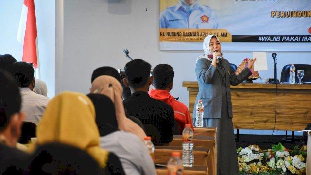 Anggota DPRD Makassar, Nunung Dasniar sosialisasi Perdaperlindungan, Pemberdayaan Pasar Tradisional dan Penataan Pasar Modern, di Hotel Grand Maleo, Sabtu (28/8/2021).