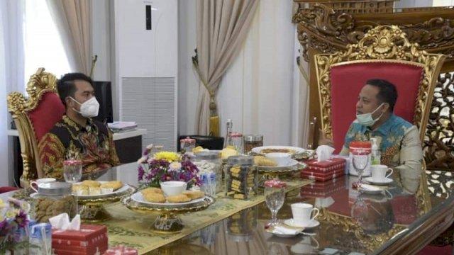Plt Gubernur dan Bupati Sinjai Bertemu Bahas Persiapan Tuan Rumah Porprov 2022