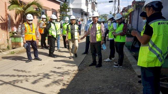 Pekerjaan Ipal Dikeluhkan Warga, Komisi C DPRD Makassar Sidak Tiga Jalan