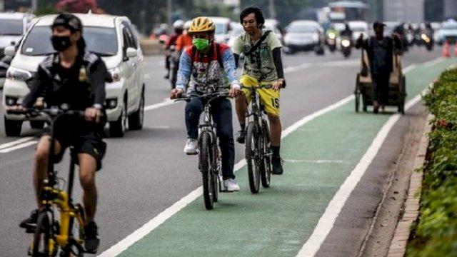 DPRD dan Dishub Makassar sedang menggodok Ranperda Bersepeda untuk memberi hak kepada para pesepeda dan juga pengguna jalan lainnya. (int)
