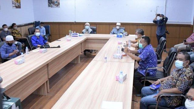 FGD pengembangan kakao dan peningkatan nilai tambah berkelanjutan di Ruang Command Center Luwu Utara, Minggu (8/8/2021).